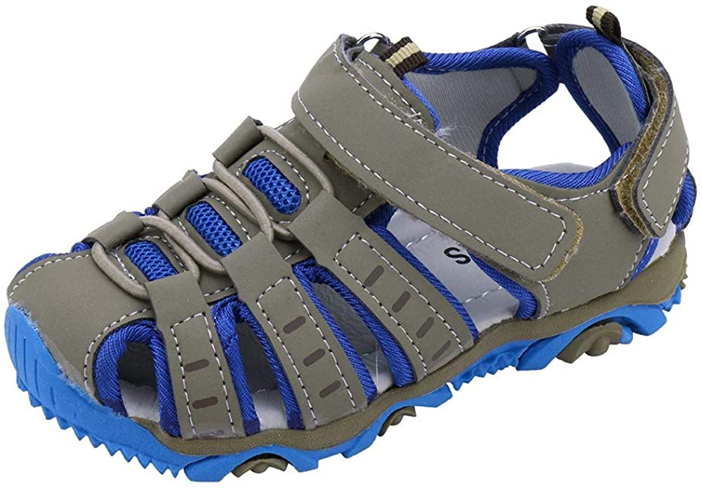 Girls Boys Summer Shoes Outdoor Beach Sports Closed-Toe Sandals Breathable Athletic Sandals