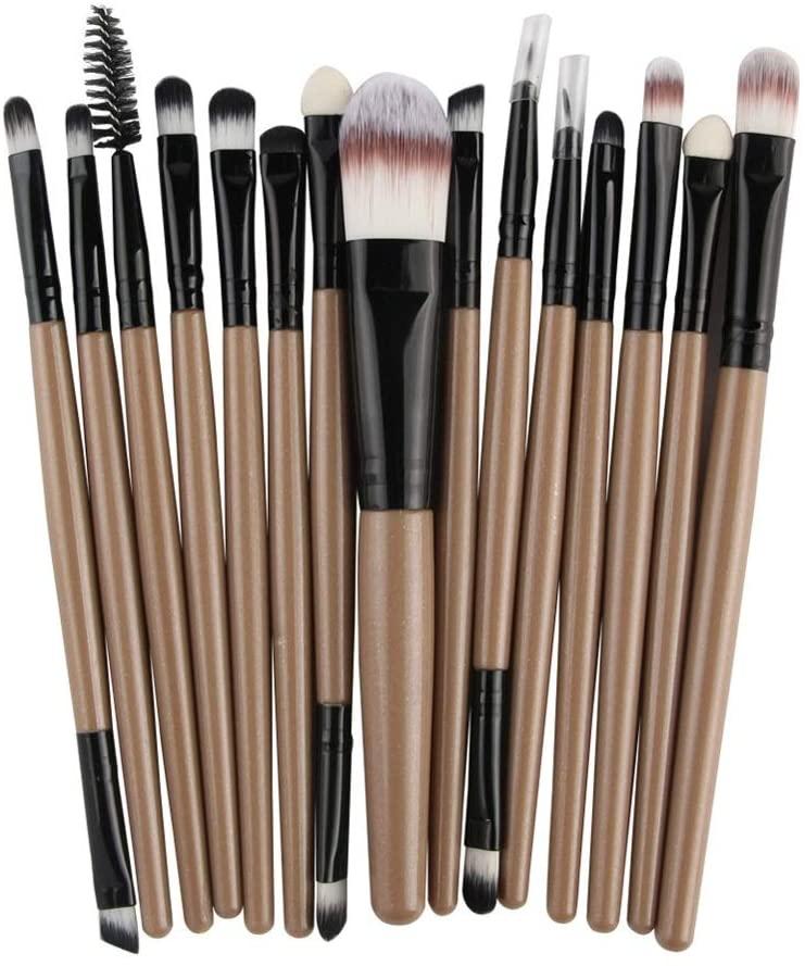 Z.L.F Brush Lip Brush Pro Makeup Cosmetic Brush Tools Kit Set Powder Eyeshadow Eyeliner Soft Fiber Bristles(15 pcs) Soft Brush (Color : 1, Size : One Size)