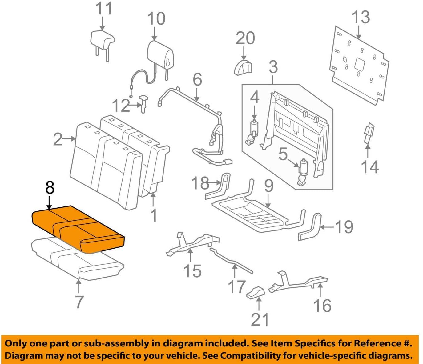 TOYOTA Genuine 79022-0C072-E7 Seat Cushion Cover Sub Assembly