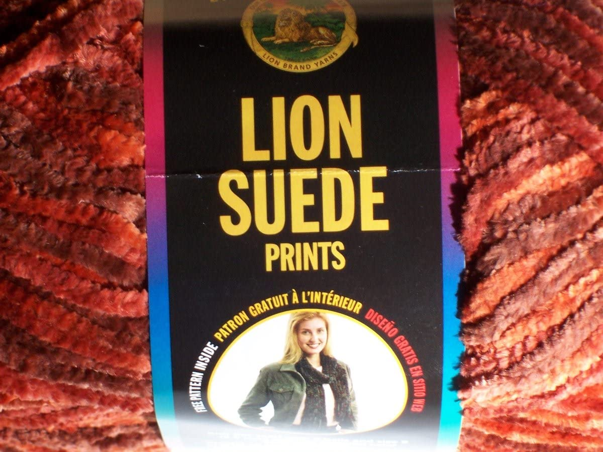 Lion Brand Suede Yarn - Canyon (Rust/Brown)