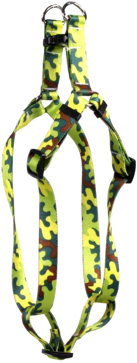 Yellow Dog Design Neon Camo Step-in Dog Harness
