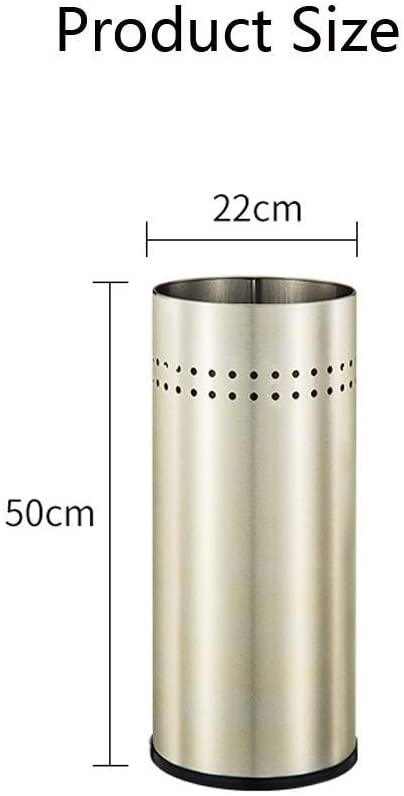 WLG Umbrella Stands, Quality Umbrella Stand Perforated Sides Umbrella Holder Stainless Steel Umbrella