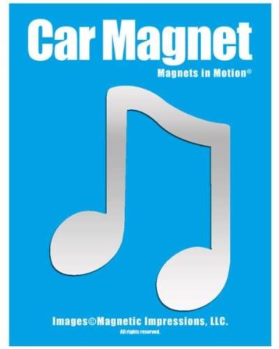 Music Note Car Magnet Chrome