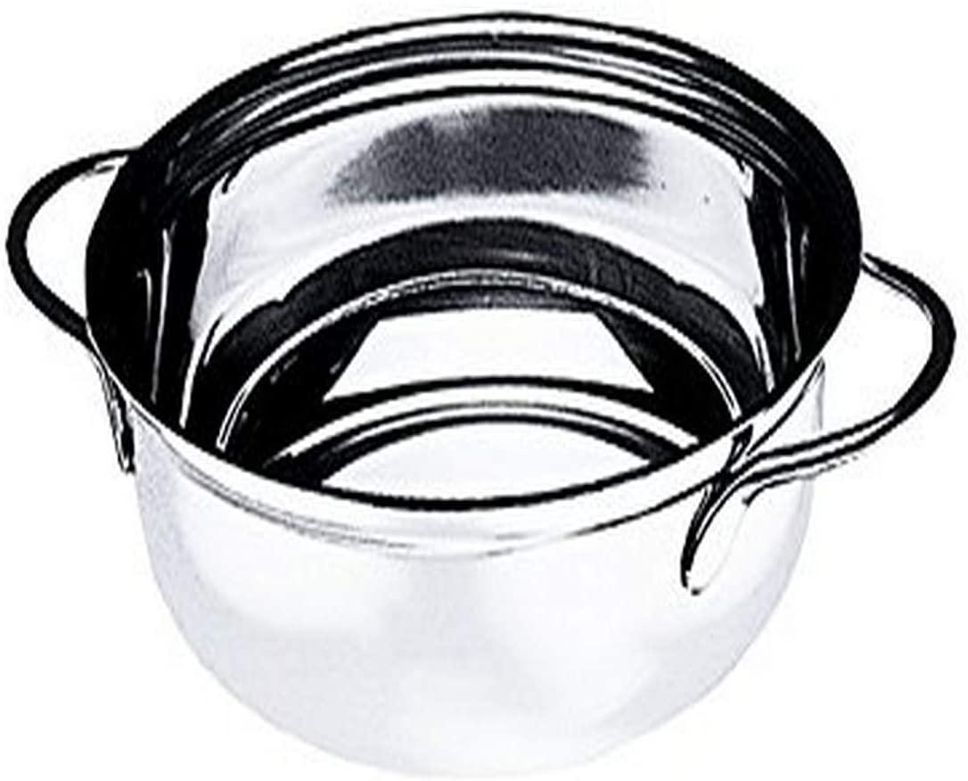 Mepra 20078222 Vegetable 22 cm Steel Dish, Silver Finish, Dishwasher Safe Serveware, Medium