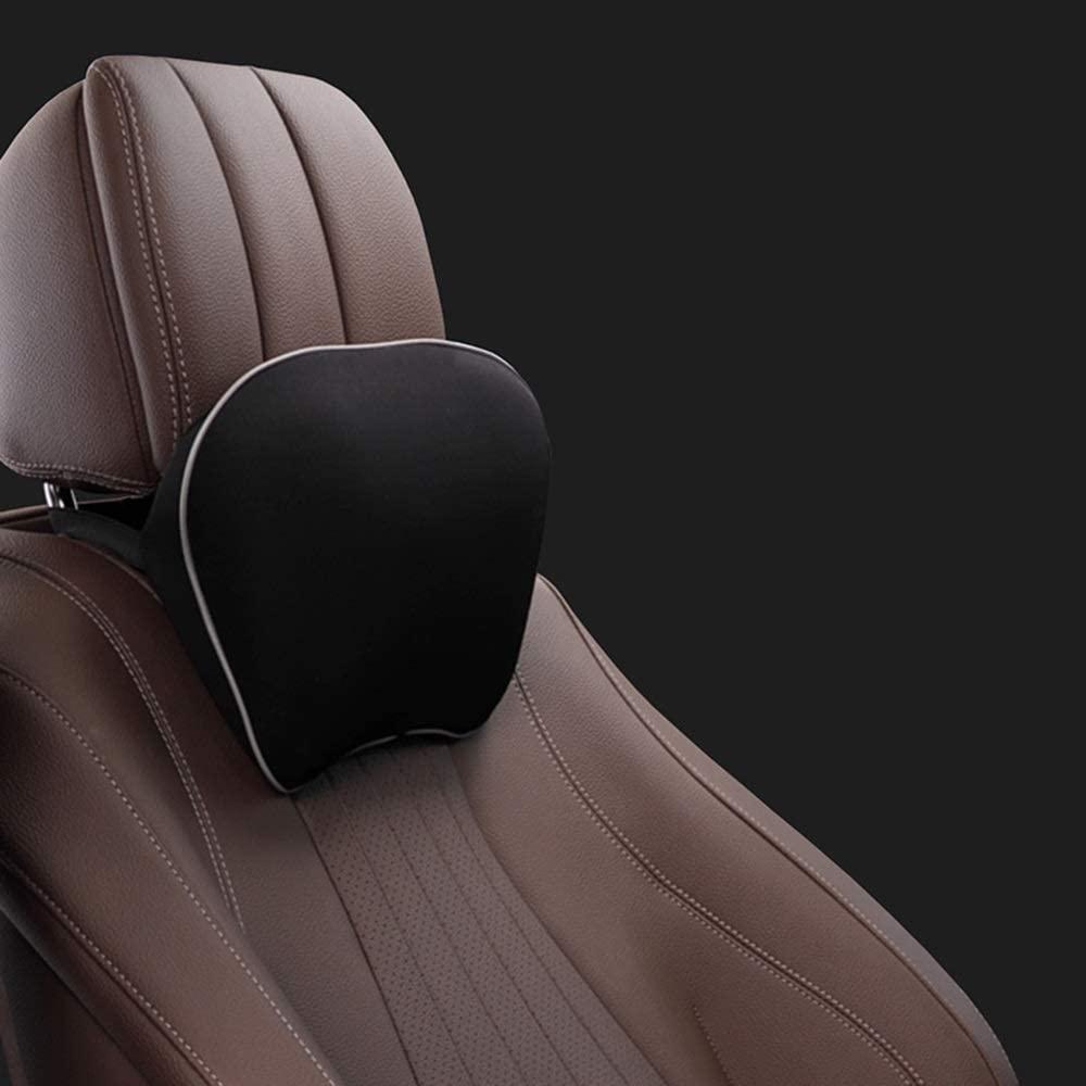 TTVUSGDW Neck Pillows Car Seat Accessories Filling Space Memory Cotton Ergonomic Comfortable and Breathable Detachable Coat Easy to Clean 24 X 19 X 9CM (Color : Black)