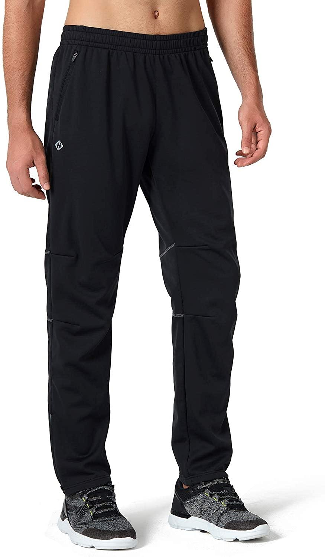 Naviskin Men's Windproof Fleece Thermal Cycling Pants Multi Sports Warm Winter Outdoor Pants