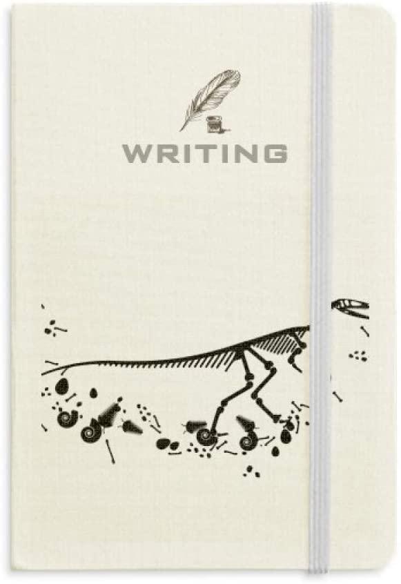 Huge Dinosaur Grass Bone Bones Writing Notebook Classic Journal Diary A5