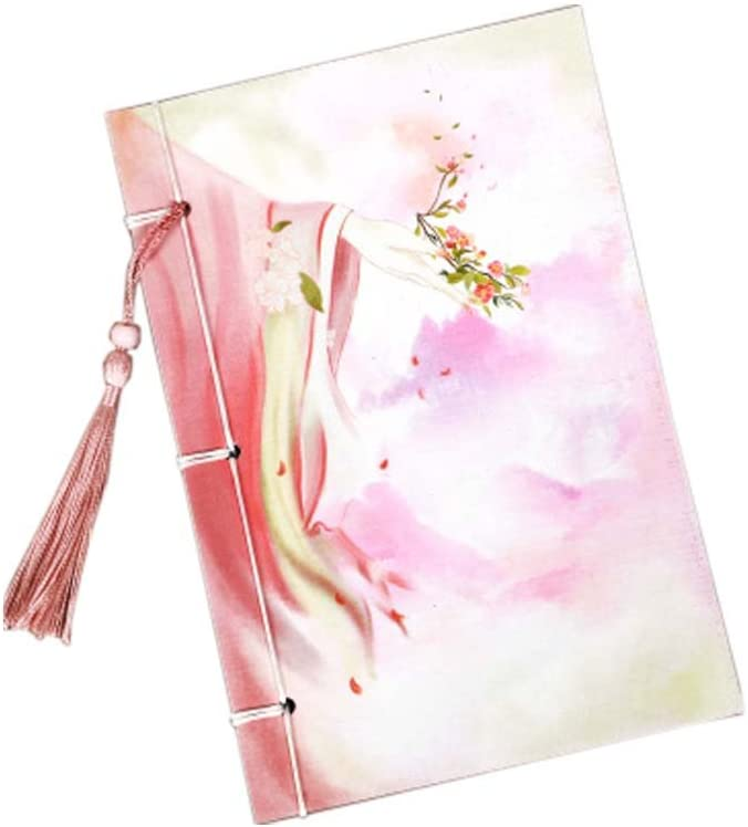 Vintage Chinese Style Notepad Stationery Notebook Journals Diary with Tassel, 18