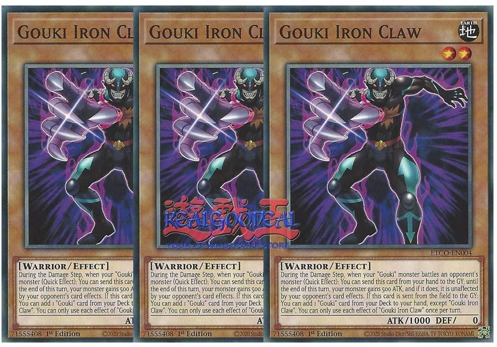 x3 Gouki Iron Claw ETCO-EN004 Common 1st