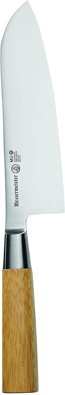 Messermeister Mu Bamboo Santoku Knife, 6.5-Inch