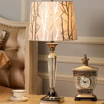 European style lamp post-modern decor American crystal lamp bedroom bed lamps idyllic minimalist modern creative living room study