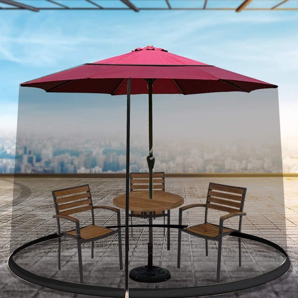 YONG Garden Umbrella Sun Parasol Table Mosquito Net Cover Screen Netting Cover, Mesh Mosquito Net Enclosure - Fits Over a 9 Patio Umbrella