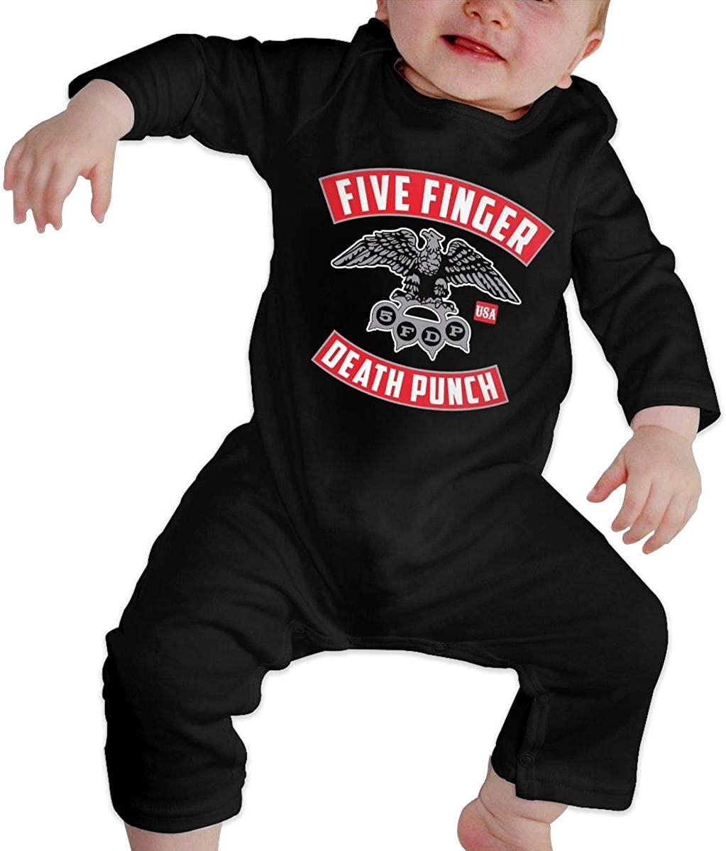 Qq1-asd-store Five Finger Death Punch Boys/Girls Baby Cotton Long Sleeve Romper Warm Bodysuit