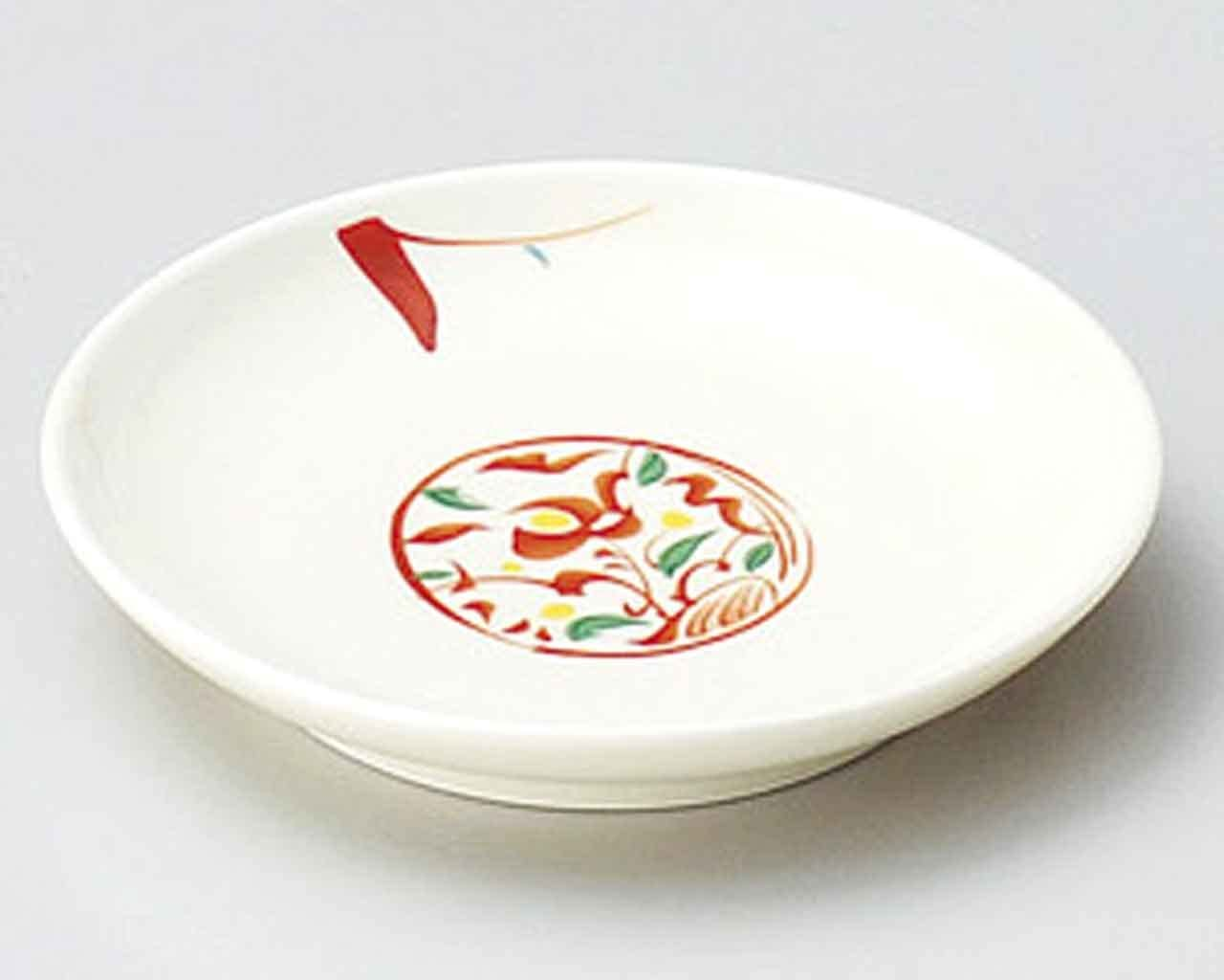 Akae Minori 4.1inch Small Plate White porcelain Made in Japan