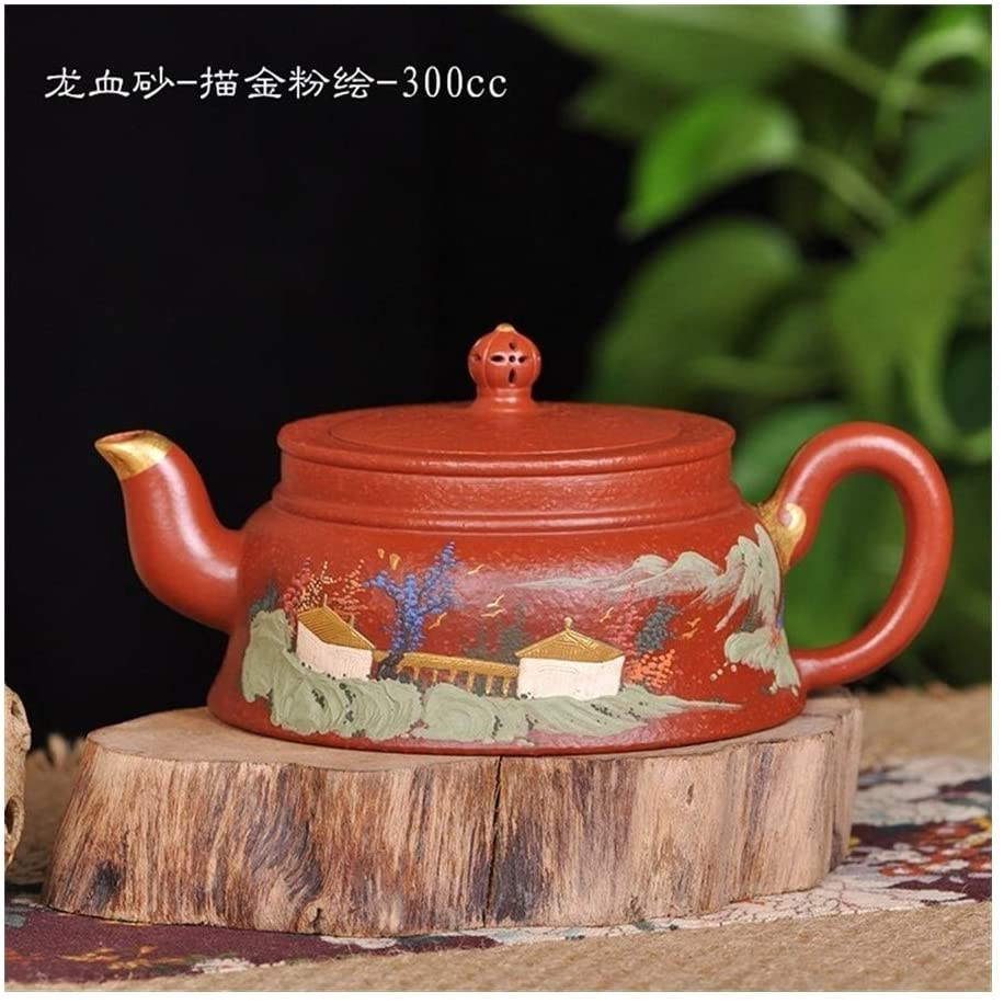 Bin Zhang Dracaena sand - gilt painted teapot teapot tea powder (Color : 300cc)