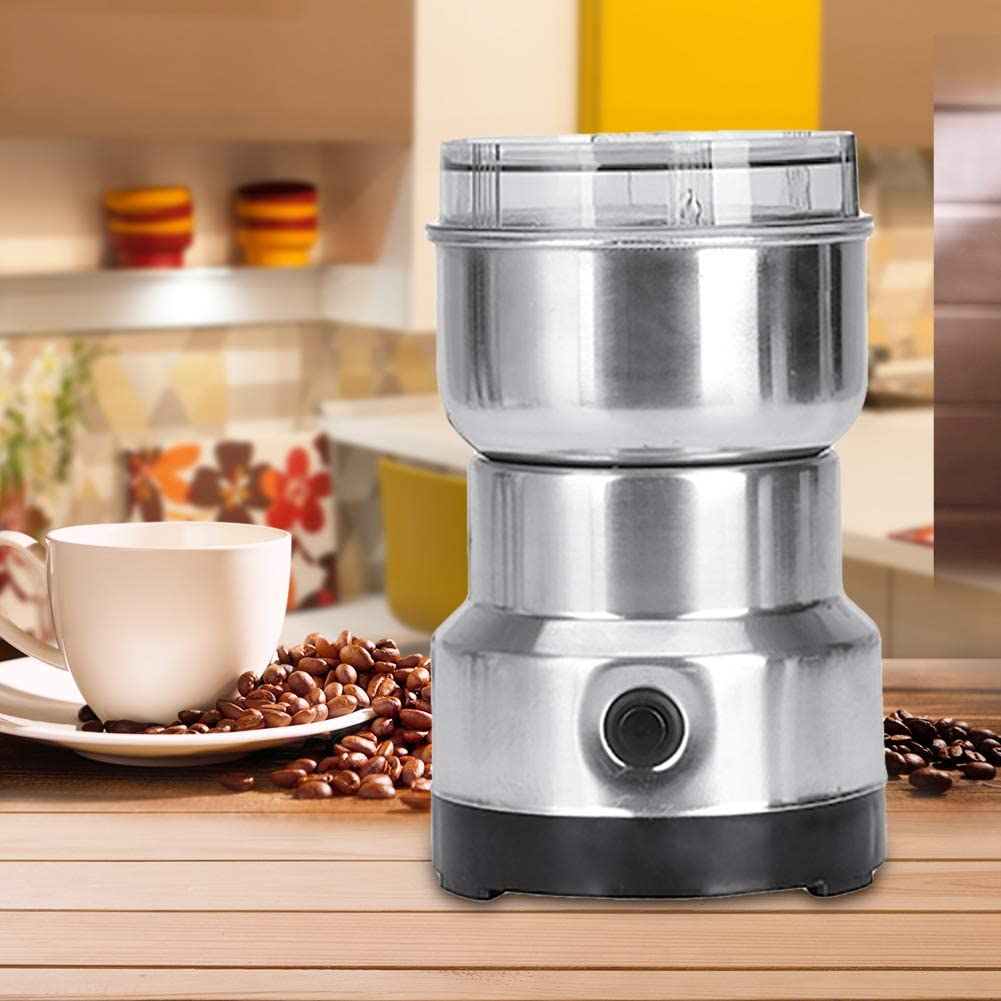 FairOnly Grinding Machine 220V 150W Home Stainless Steel Body Electric Coffee Grinder for Bean Chinese Herbal Medicines for Creative Lifestyle