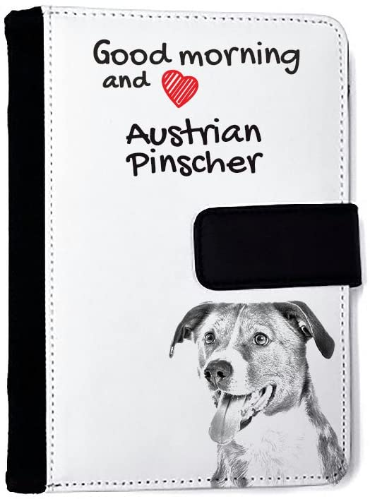 Austrian Pinscher, Extraordinary notebook made of eco-leather with a dog
