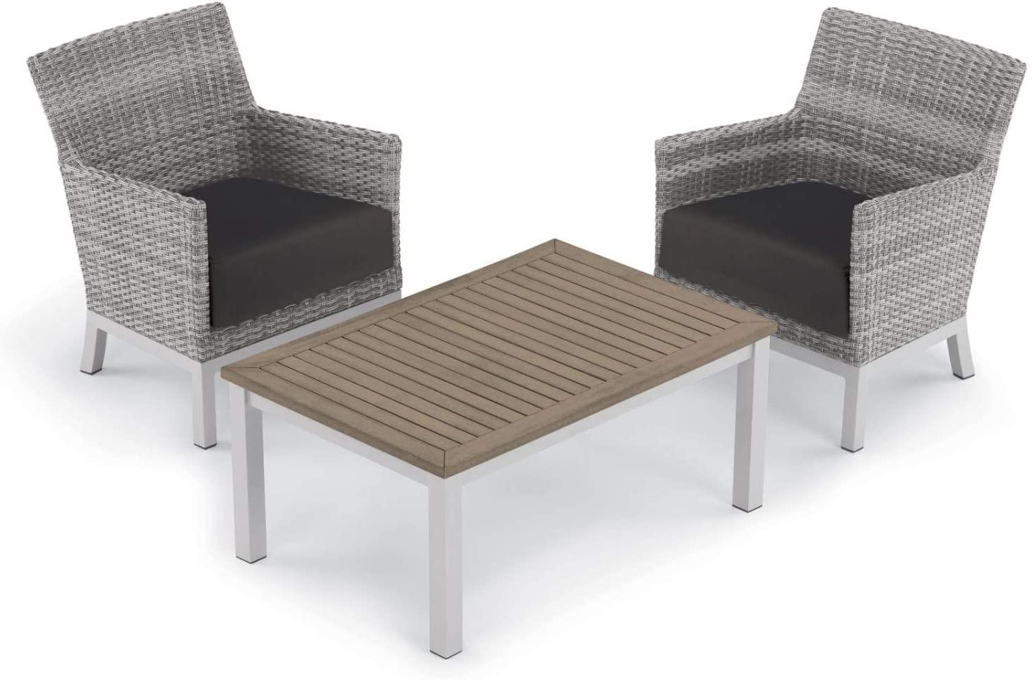 Oxford Garden 5570 Argento & Travira Furniture Set, Powder Coat Flint