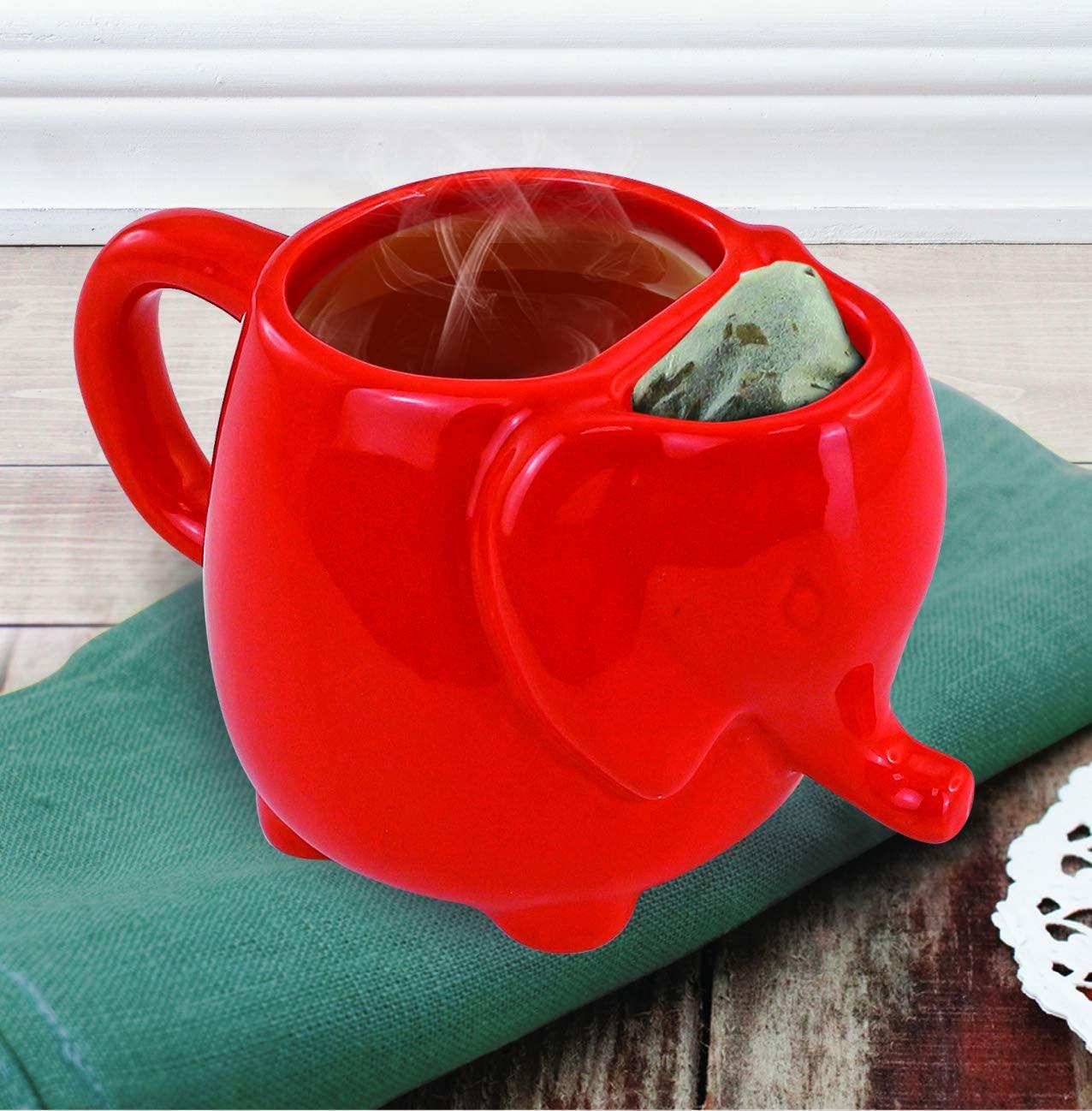 Elephant Tea Mug 15oz (Red)