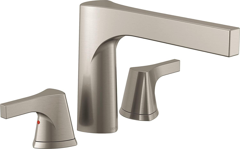 Delta Faucet T2774-SS, Stainless Zura 3-Hole Roman Tub Trim