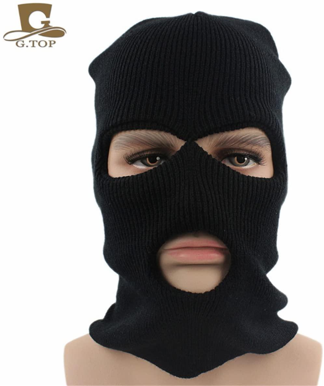 TTjII Men woman Stylish Warm Winter Skull Cap Wool Knitted Windproof Thick Hat