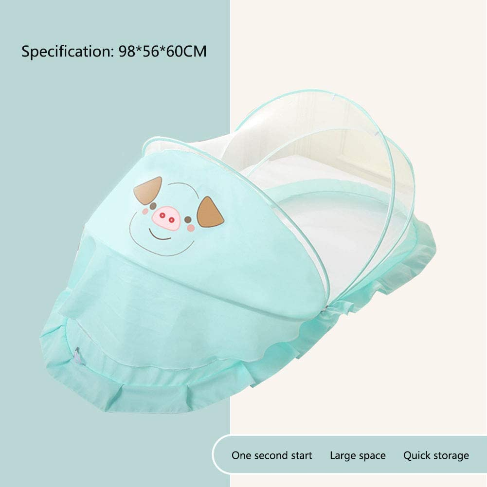 MAG.AL Child U Type High Density Mesh Foldable Punta Shading Mosquito Net, Portable Mute Open Mosquito Infant Mosquito Tent, Free Installation Suitable for 0-2 Year Old Baby,E,985660cm