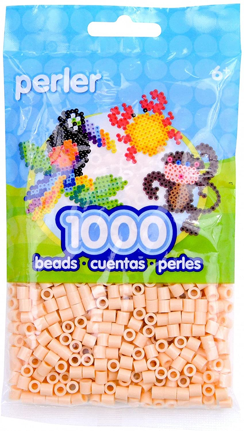 Perler Beads Fuse Beads for Crafts, 1000 pcs, Peach
