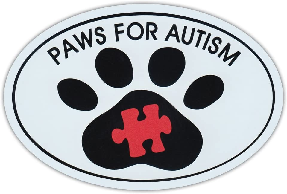 Oval Car Magnet - Paws for Autism - Dog Walk/Run Support Event - Magnetic Bumper Sticker
