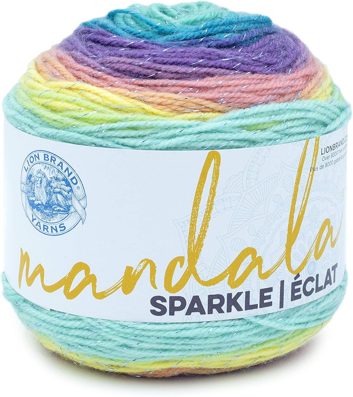 Lion Brand Yarn Mandala Sparkle Yarn, Serpens