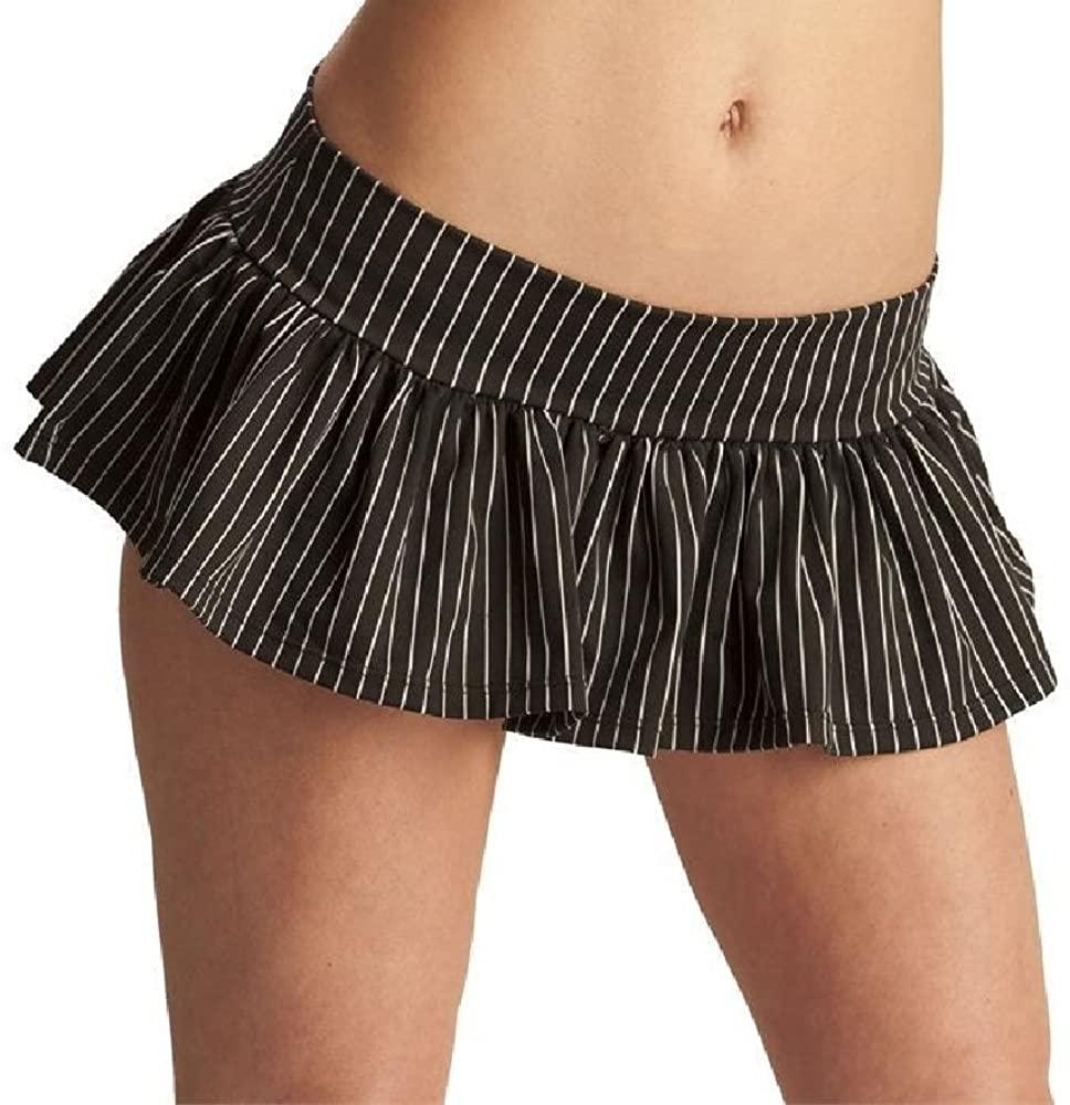 Espiral Ruffle Skirt S/M Pin Stripe Skirt