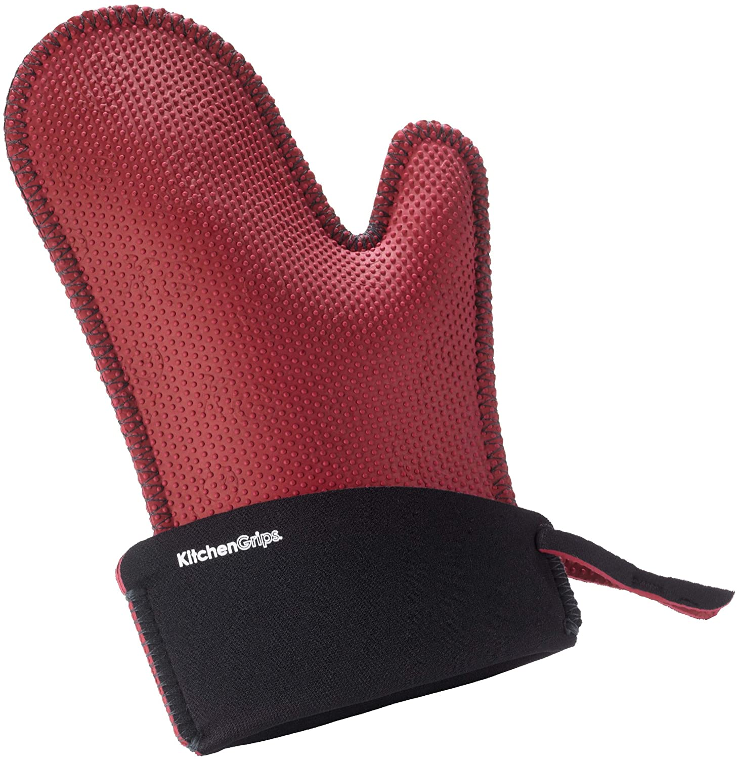 Kitchen Grips Chef's Mitt, Large, Red/Black