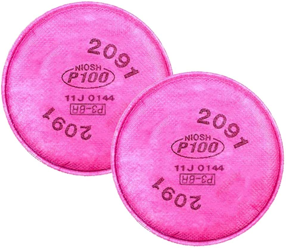 8 PCS (4 Pairs) Particulate Filter Compatible with 2091, Installed on P100 Filter Retainer Replacement for 6000 7000 FF-4