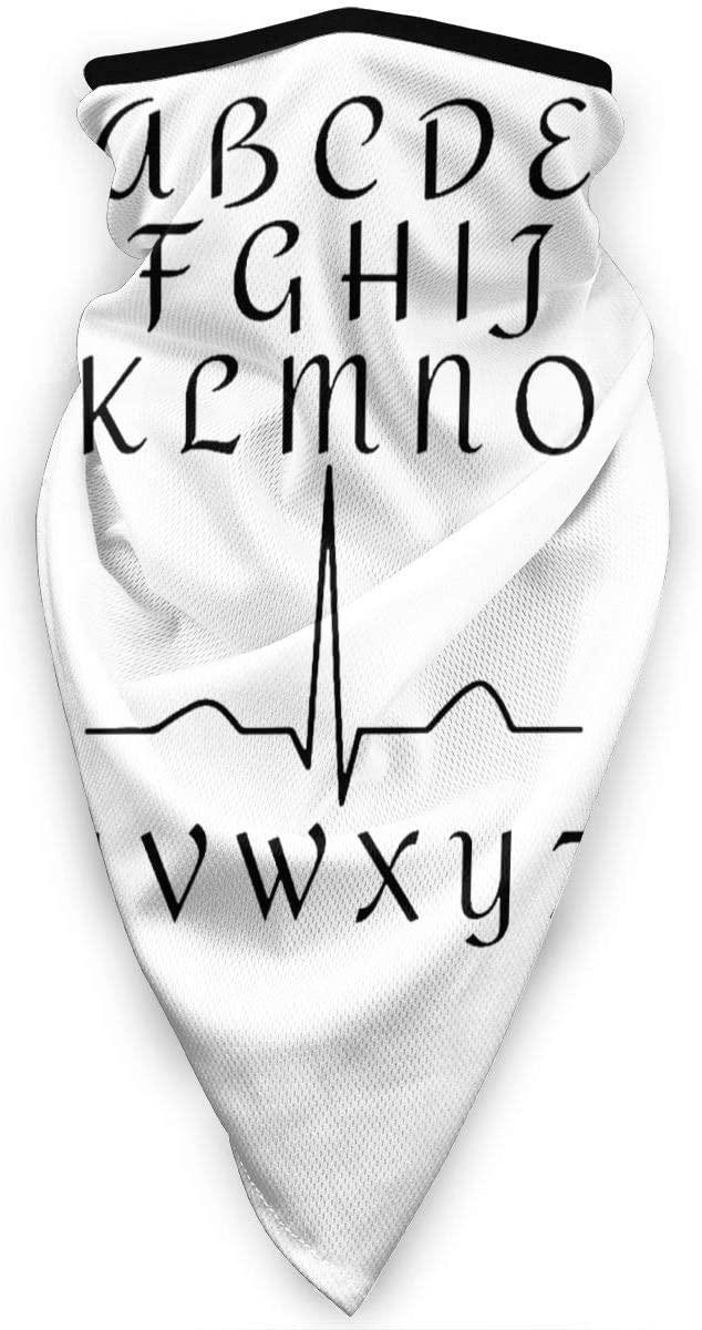 WAY.MAY Funny ECG Nurse Heartbeat Windproof Sports Mask Neck Gaiter Bandana Balaclava Warmer Scarf