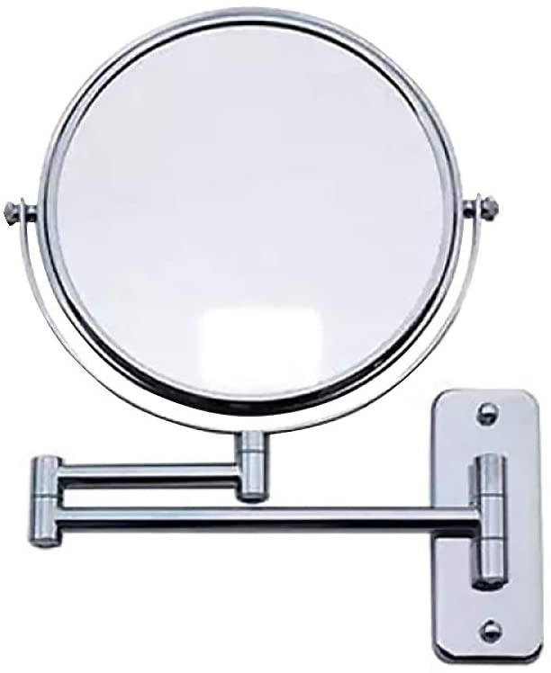 Mounted Makeup Mirror Folding Double Sided 6 Inch Mirror Swivel Extendable Bathroom Makeup Mirror Portable Cosmetic Mirror for Home
