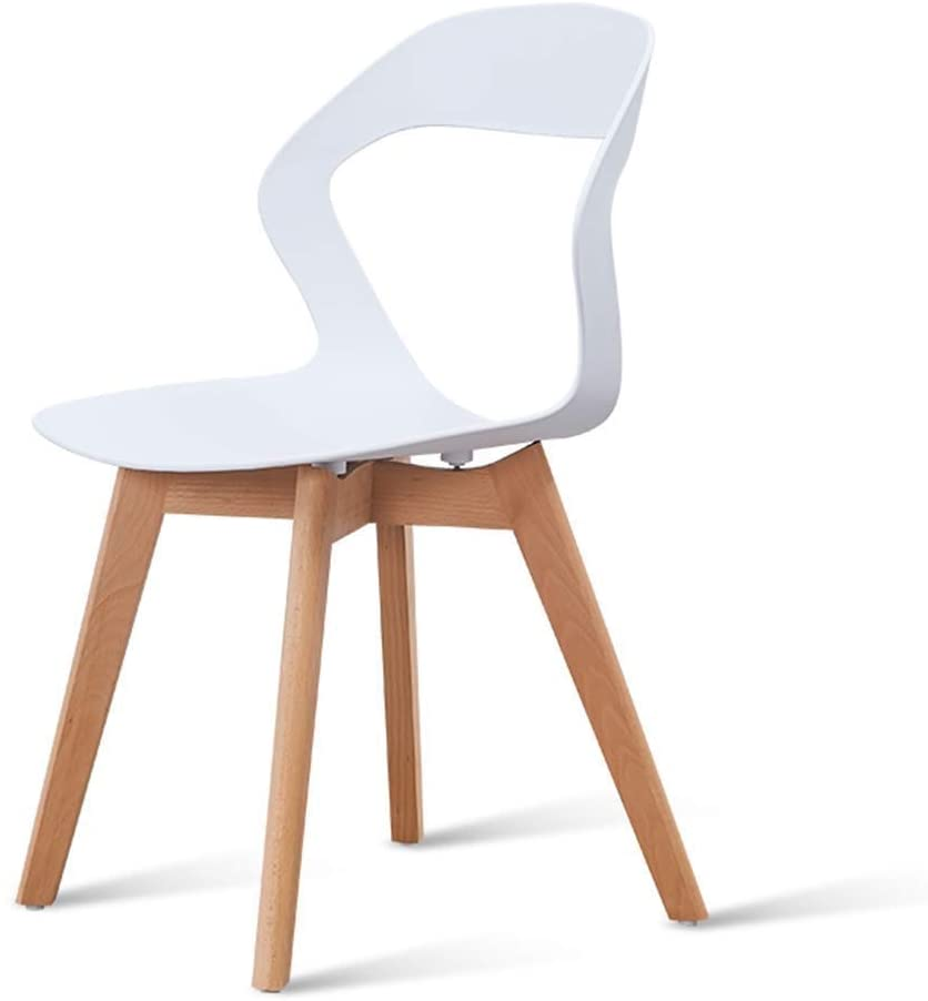 HOMRanger Creative Nordic Wood Multifunctional Dining Chair -Home Computer Chair Modern Minimalist Backrest Chair Lazy Bedroom Chair (Color : Gray)