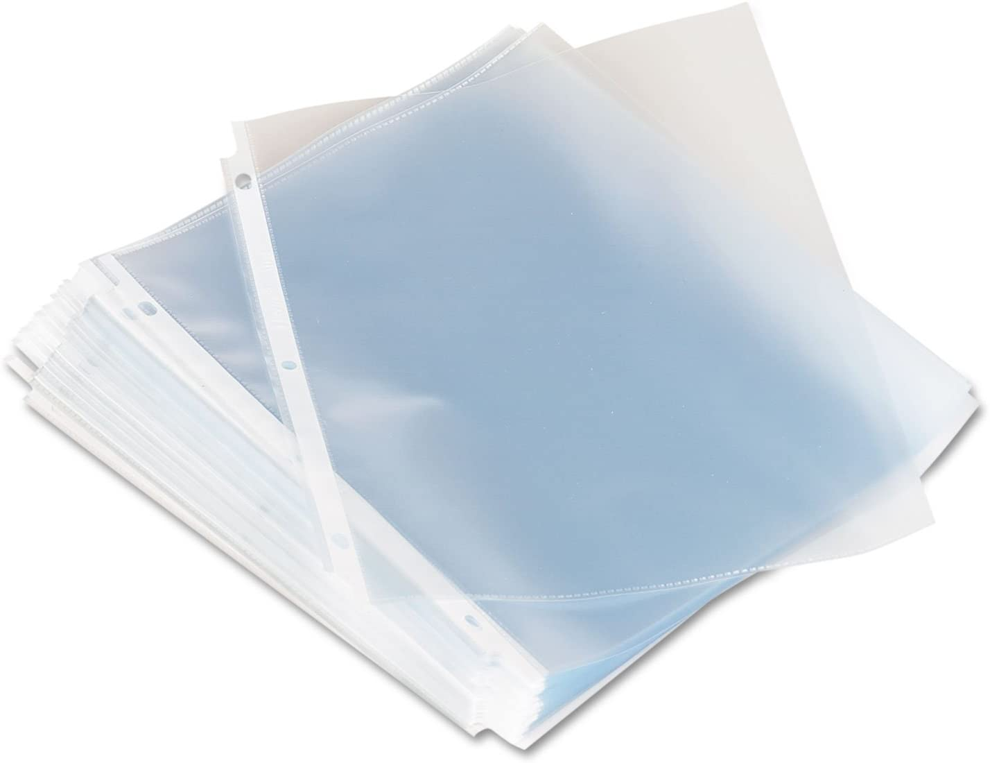 Universal 21125 Top-Load Poly Sheet Protectors, Standard, Letter, Clear, 100/Box