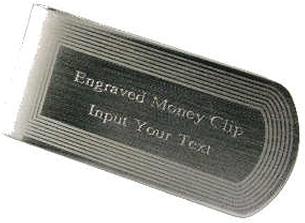 Silver Money Clip Personalised~Gold Engraved Money Clip