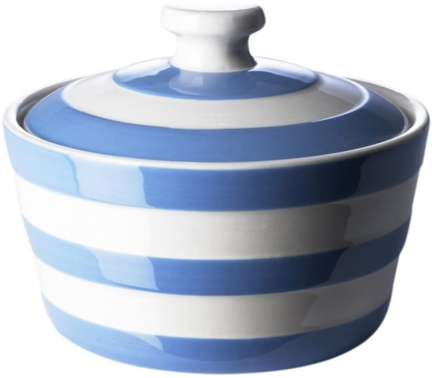 Cornishware Covered Butter Dish, 5-1/2-Inch