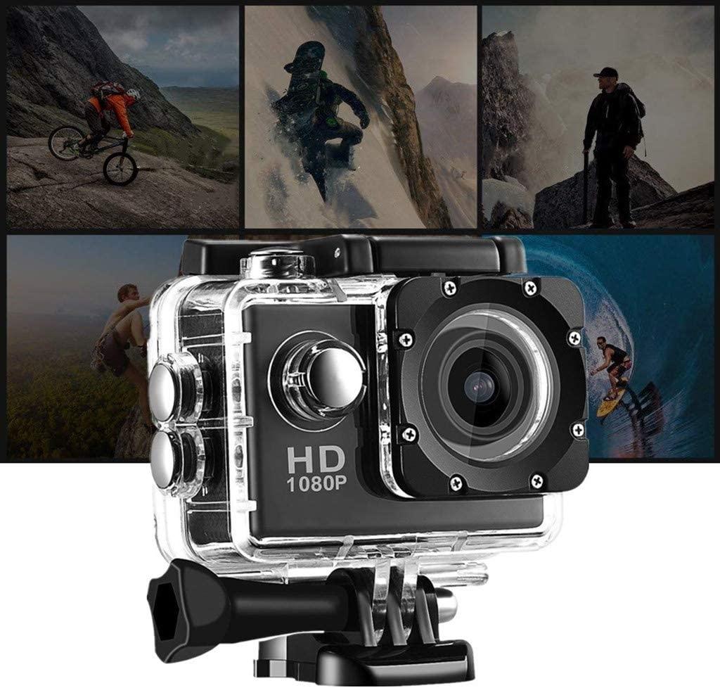 BOLUOYI 2020 New Waterproof Camera, HD 1080P Sport Action Camera DVR Cam DV Video Camcorder (Black)
