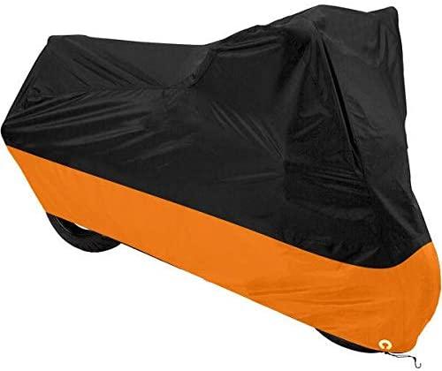 dalianda Black & Orange Motorcycle Cover for Harley-Davidson Street UV Dust Prevention XL