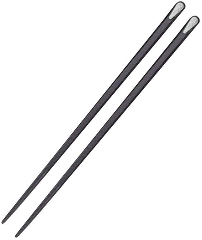 Xisheep Chop Sticks,1 Pair Japanese Chopsticks Alloy Non-Slip Sushi Chop Sticks Set Chinese Gift Kitchen Dining Bar, for Home DIY