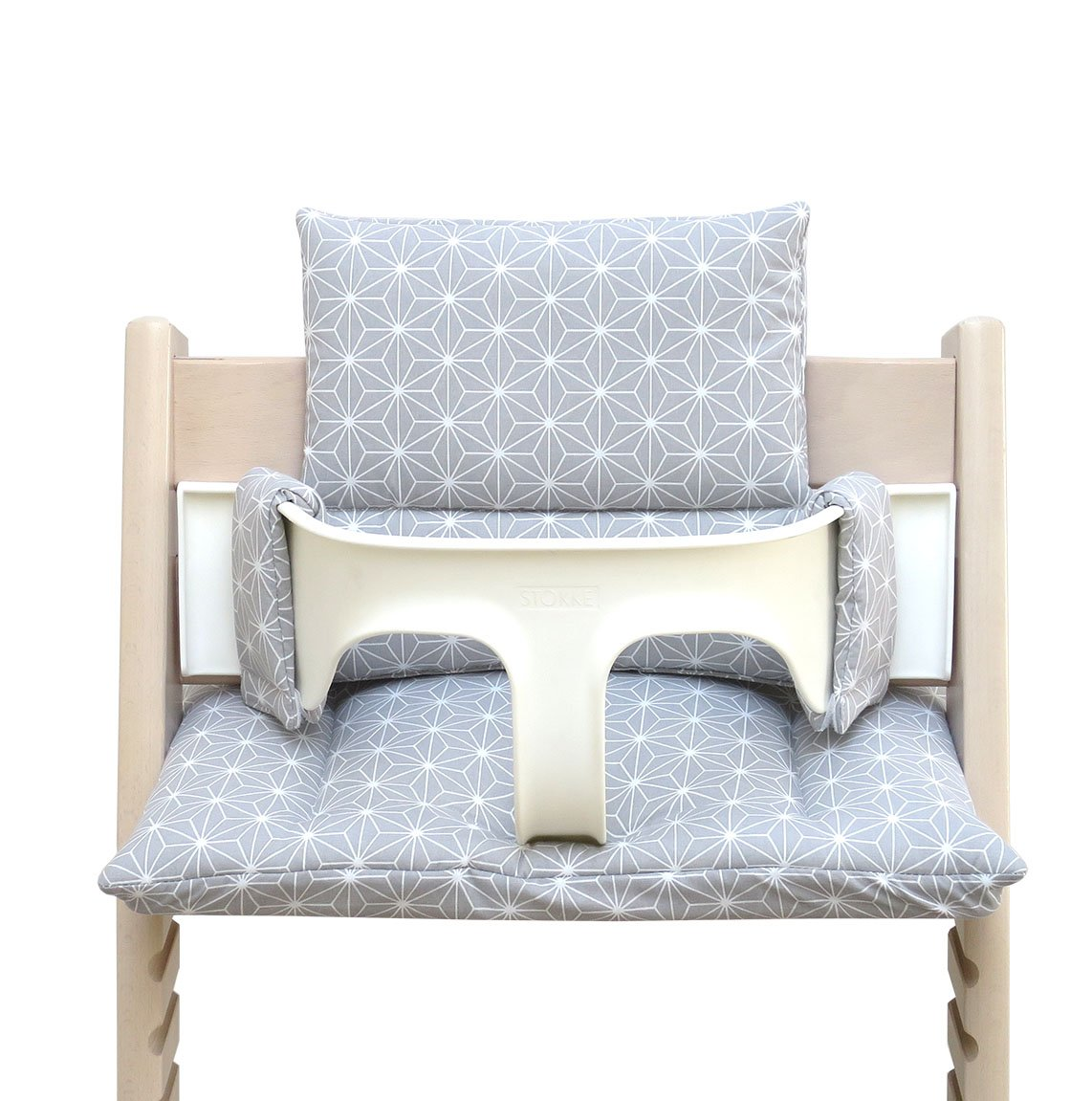 Blausberg Baby - Coated Cushion Set for Tripp Trapp High Chair of Stokke - Happy Star Gray