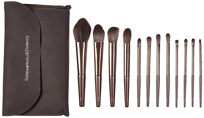 Makeup Brushes Premium Synthetic Foundation Powder Concealers Eye Shadows Makeup 12 Pcs Brush Set, Free Brush Pack
