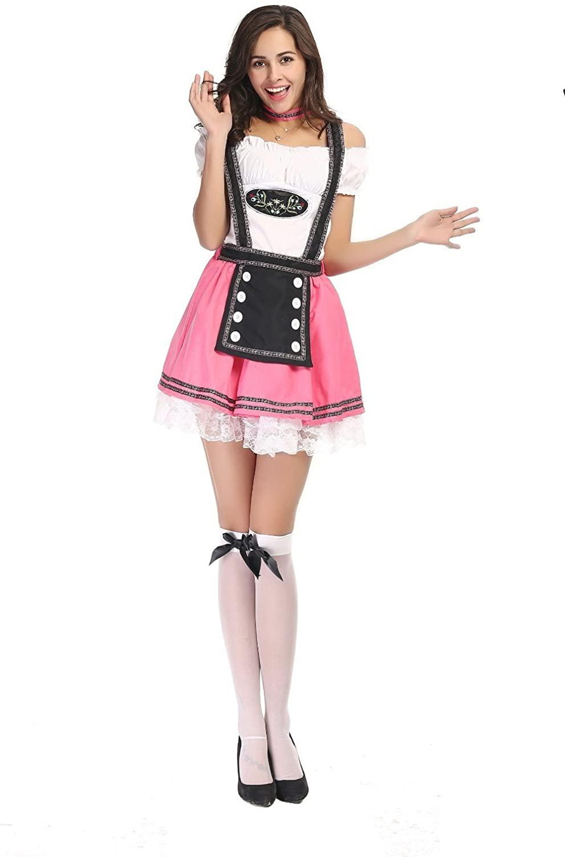Halloween Deluxe German Oktoberfest Cute Beer Girl Costume