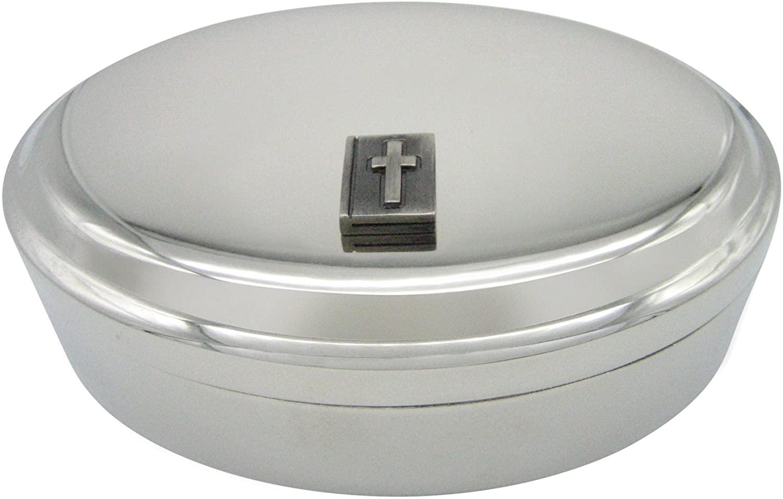 Religious Bible Pendant Oval Trinket Jewelry Box