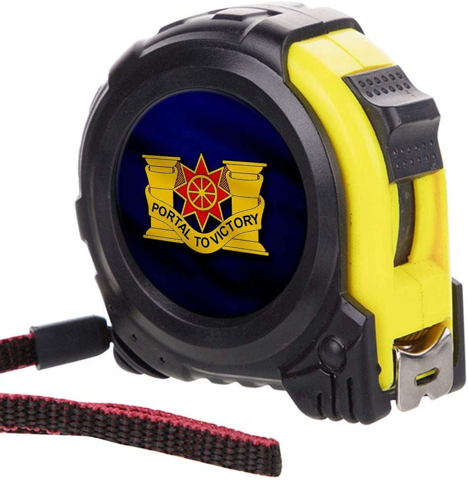 ExpressItBest Tape Measure with 16 Foot Steel Tapeline - US Army 10th Transportation Battalion, DU