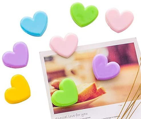 Clips 10Pcs/lot Kawaii Mini Pink Love Spring Clip for Girls Photo Decoration Folder Paper Clip Cute Office Stationery School Supplies - (Color: Yellow)