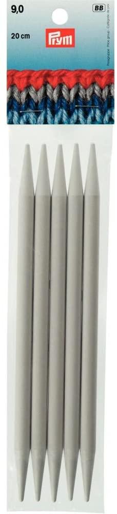 PRYM 9 mm 20 CM Plastic Double Pointed Knitting Needles - 218651