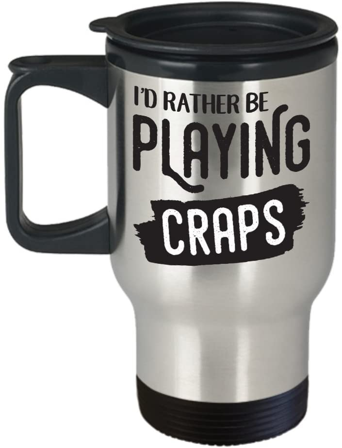 Craps Gifts Travel Mug, 14 OZ, Stainless Steel Coffee Cup