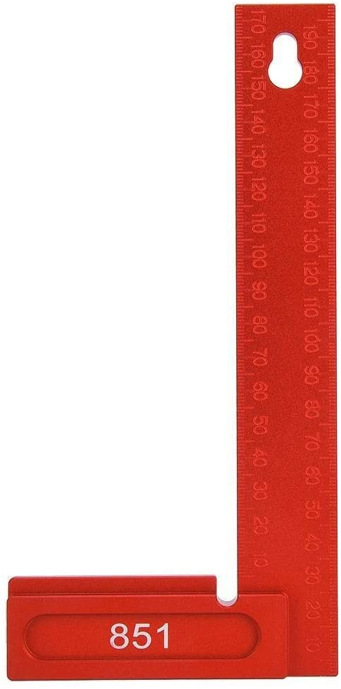Beennex Right Angle Ruler Aluminum Alloy 90 Degrees L-Shaped Woodworking Carpenter Tool 0-200mm